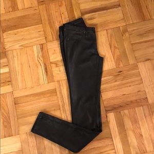 Blak faux leather jeggings